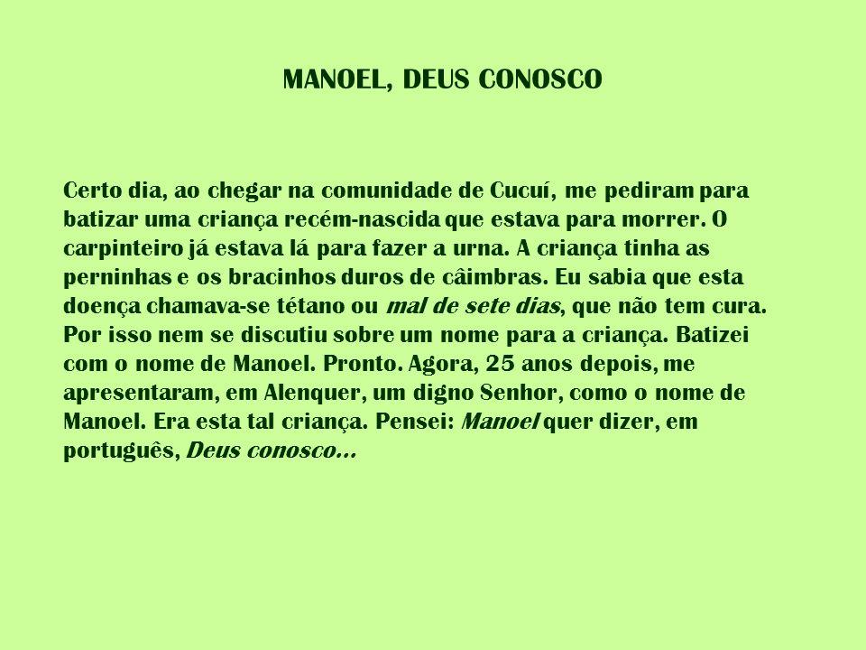 MANOEL, DEUS CONOSCO