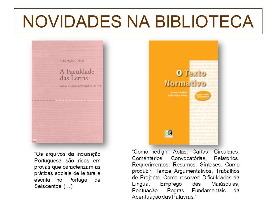 NOVIDADES NA BIBLIOTECA