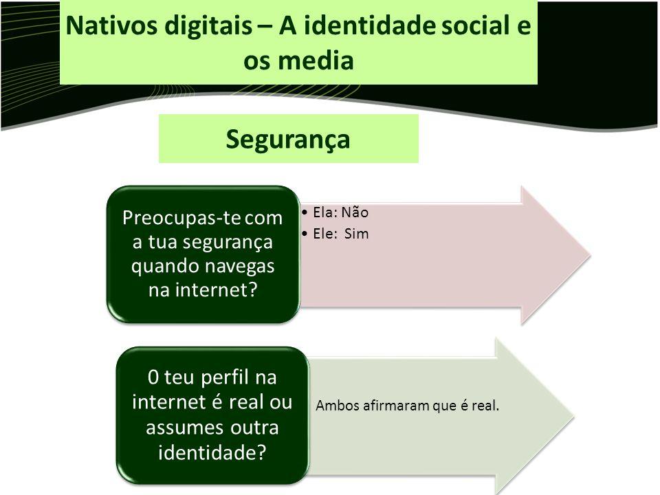 Nativos digitais – A identidade social e os media
