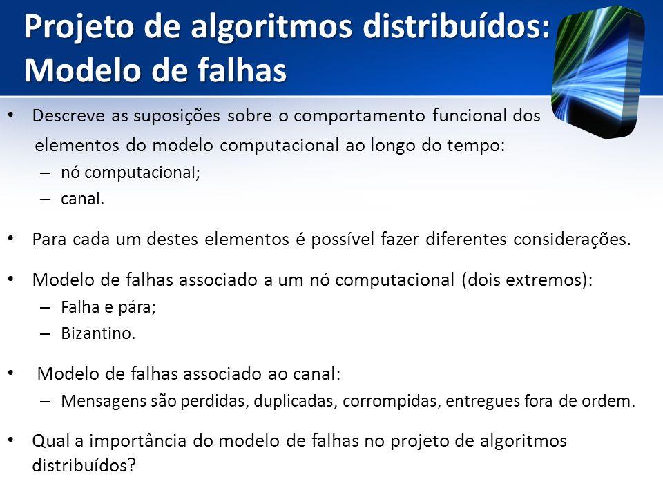 Projeto de algoritmos distribuídos: Modelo de falhas