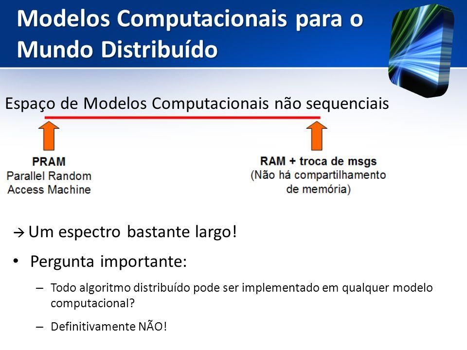 Modelos Computacionais para o Mundo Distribuído