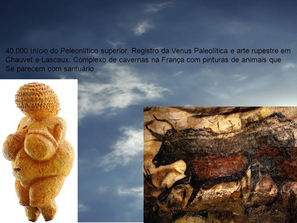 Adoração: Cronologia 40.000 Início do Peleonlítico superior. Registro da Venus Paleolítica e arte rupestre em.