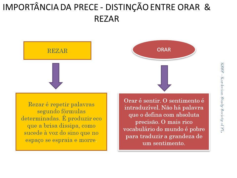 IMPORTÂNCIA DA PRECE - DISTINÇÃO ENTRE ORAR & REZAR