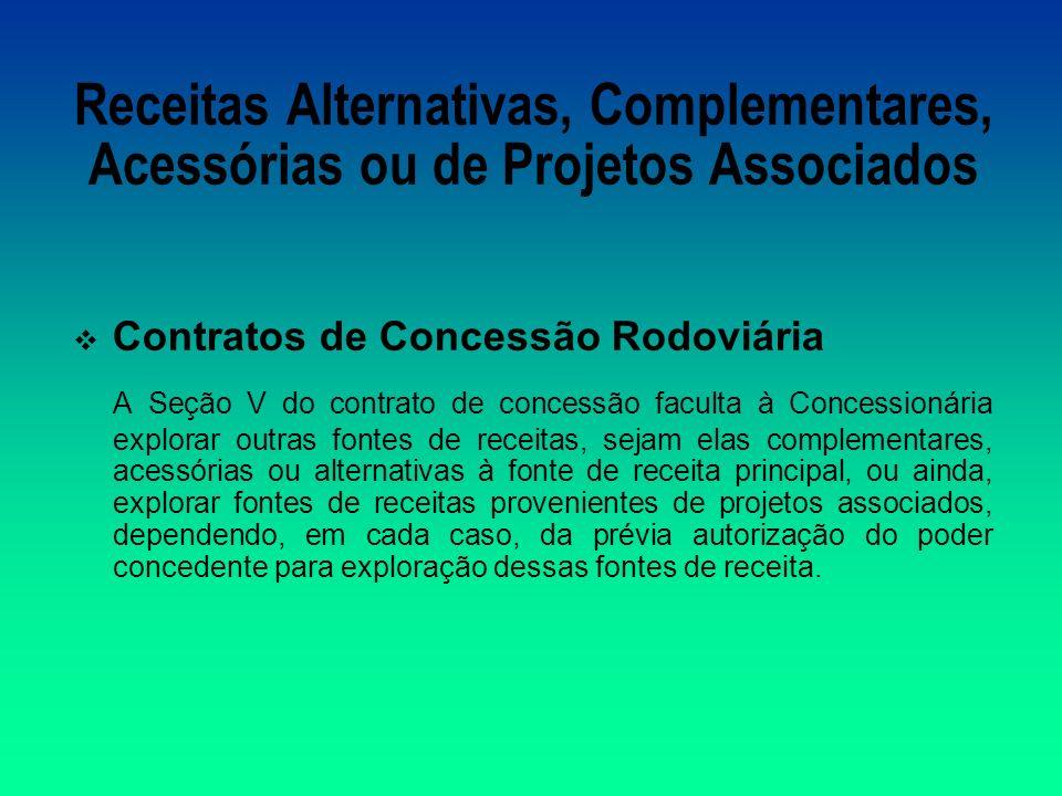 Receitas Alternativas, Complementares, Acessórias ou de Projetos Associados