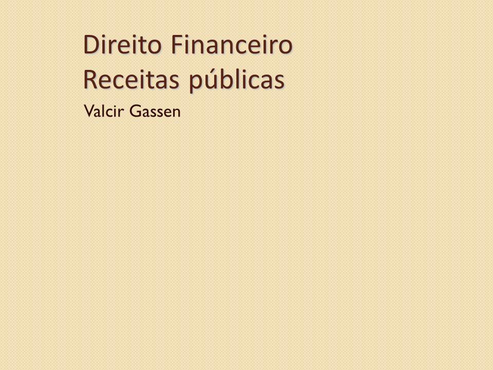Direito Financeiro Receitas públicas
