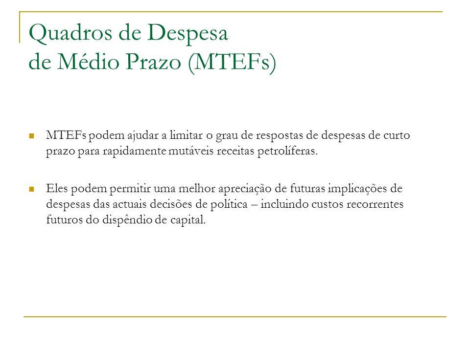 Quadros de Despesa de Médio Prazo (MTEFs)