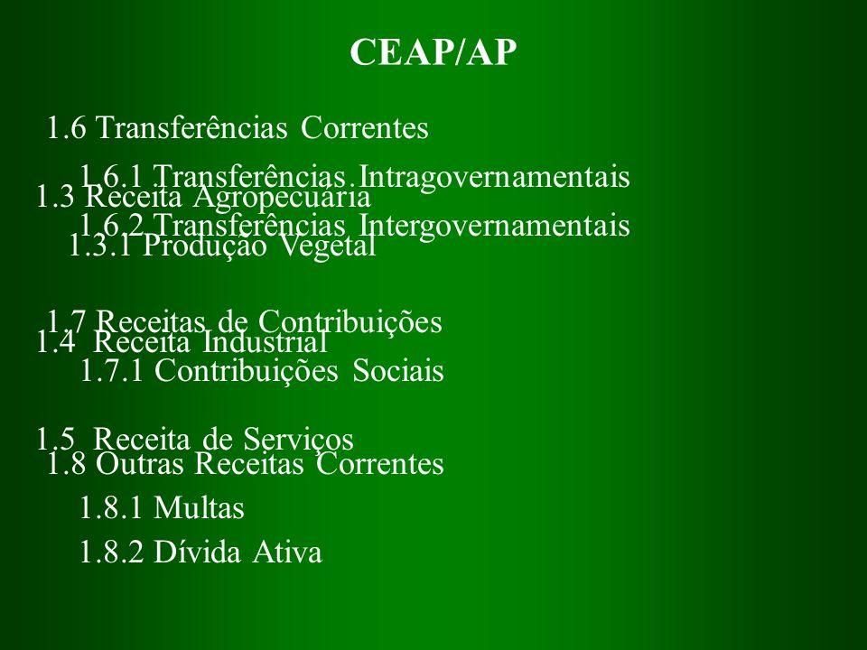 CEAP/AP 1.6 Transferências Correntes