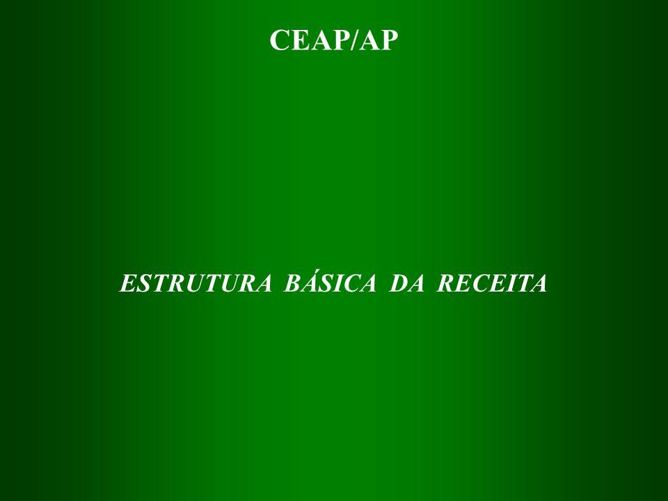 ESTRUTURA BÁSICA DA RECEITA