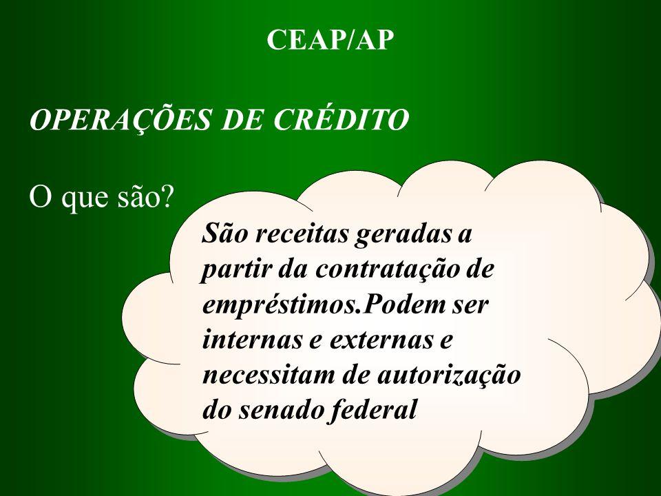 O que são OPERAÇÕES DE CRÉDITO CEAP/AP