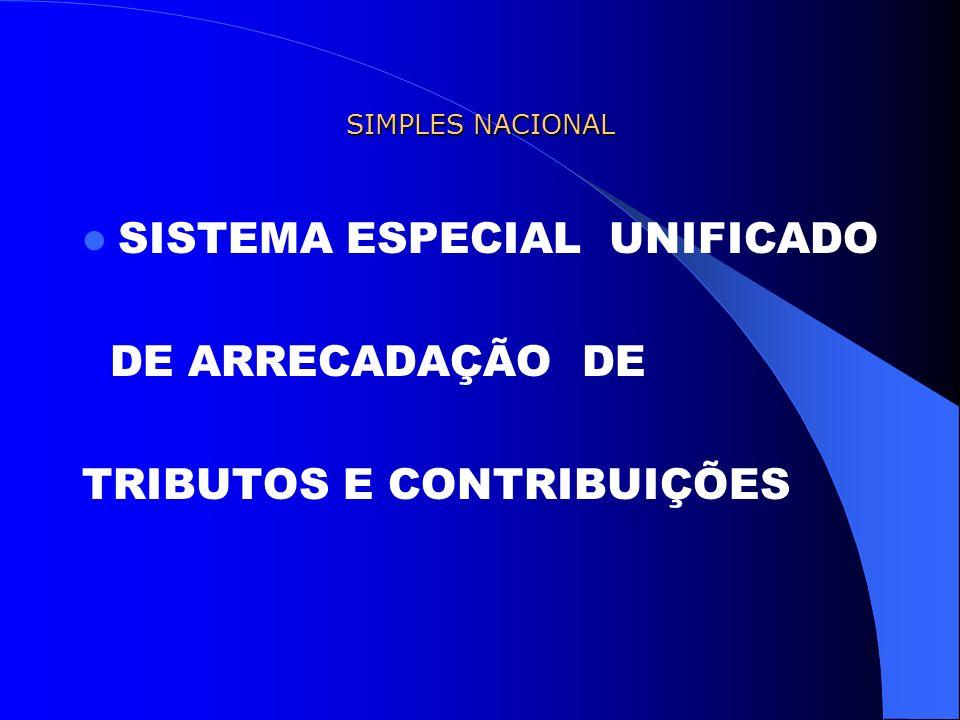SISTEMA ESPECIAL UNIFICADO DE ARRECADAÇÃO DE TRIBUTOS E CONTRIBUIÇÕES