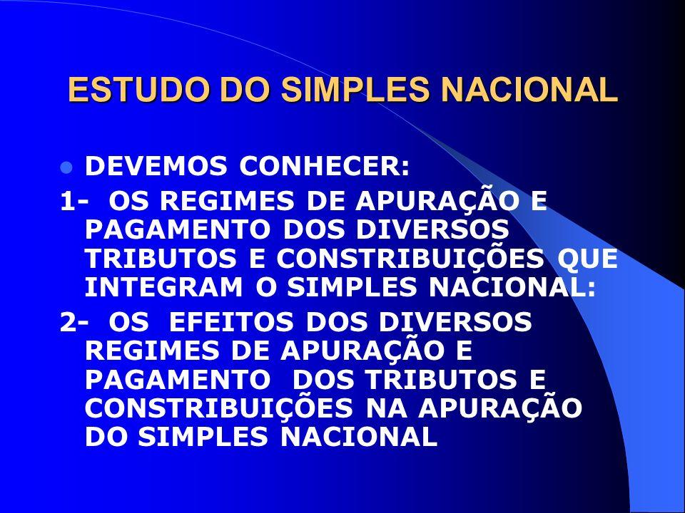 ESTUDO DO SIMPLES NACIONAL