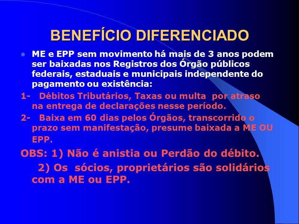 BENEFÍCIO DIFERENCIADO