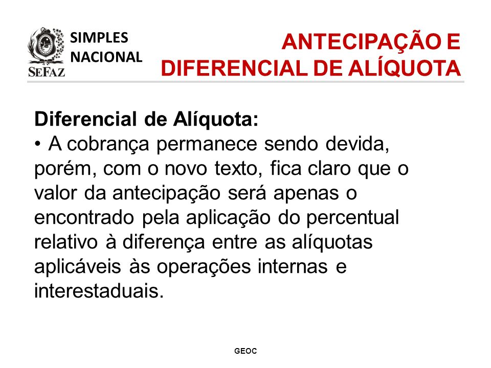 DIFERENCIAL DE ALÍQUOTA