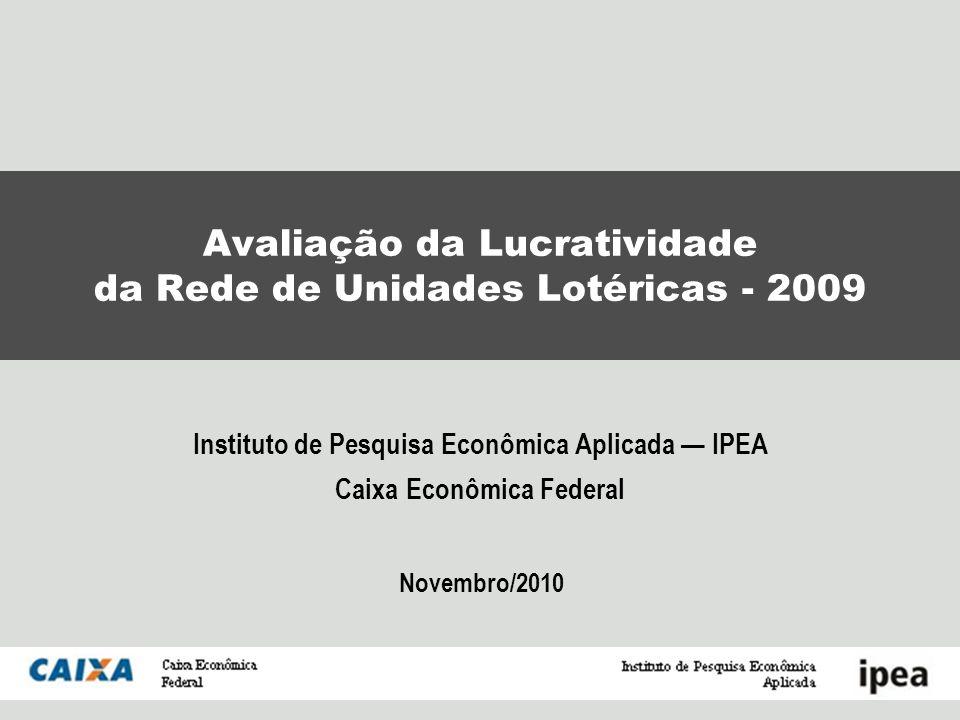 Avaliação da Lucratividade da Rede de Unidades Lotéricas - 2009