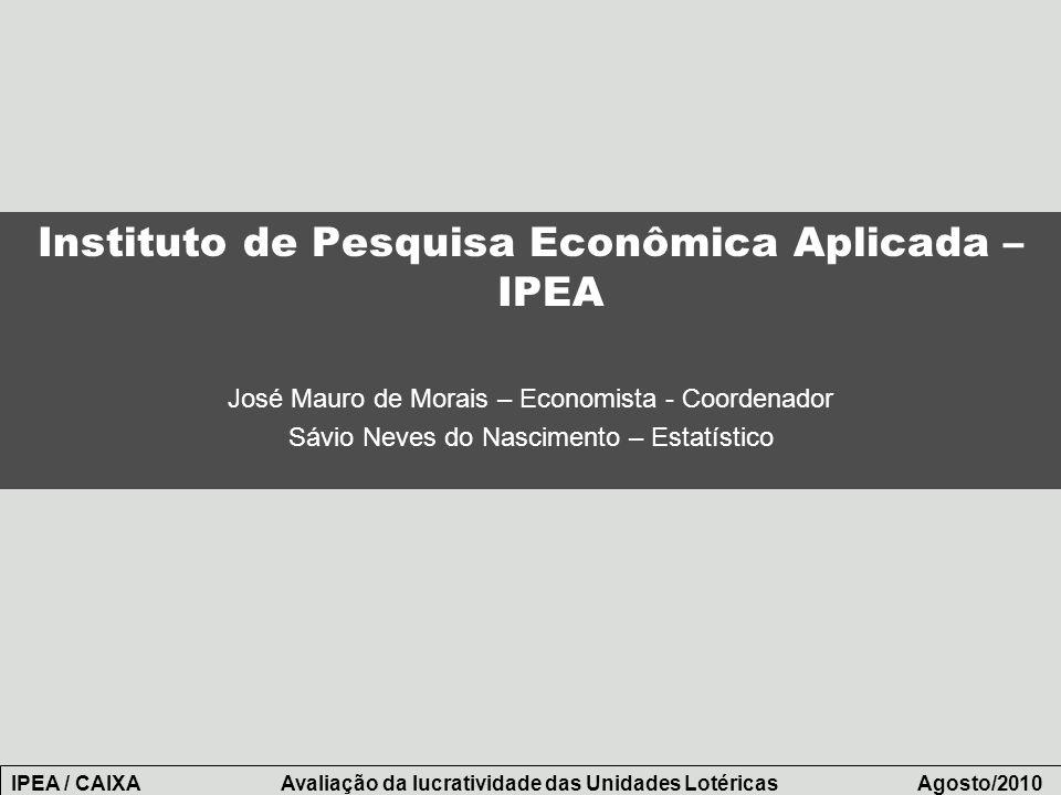 Instituto de Pesquisa Econômica Aplicada – IPEA