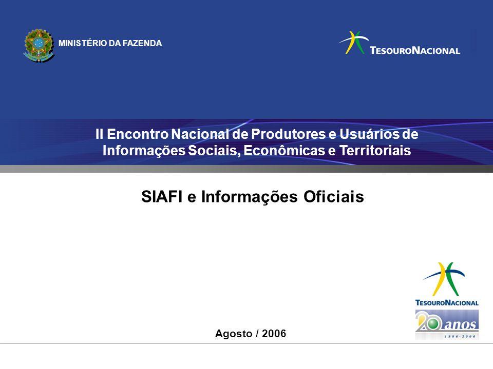 SIAFI e Informações Oficiais