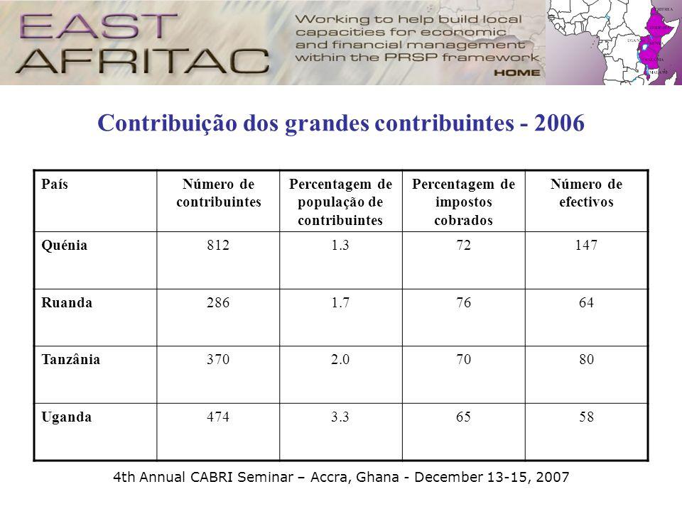 Contribuição dos grandes contribuintes - 2006