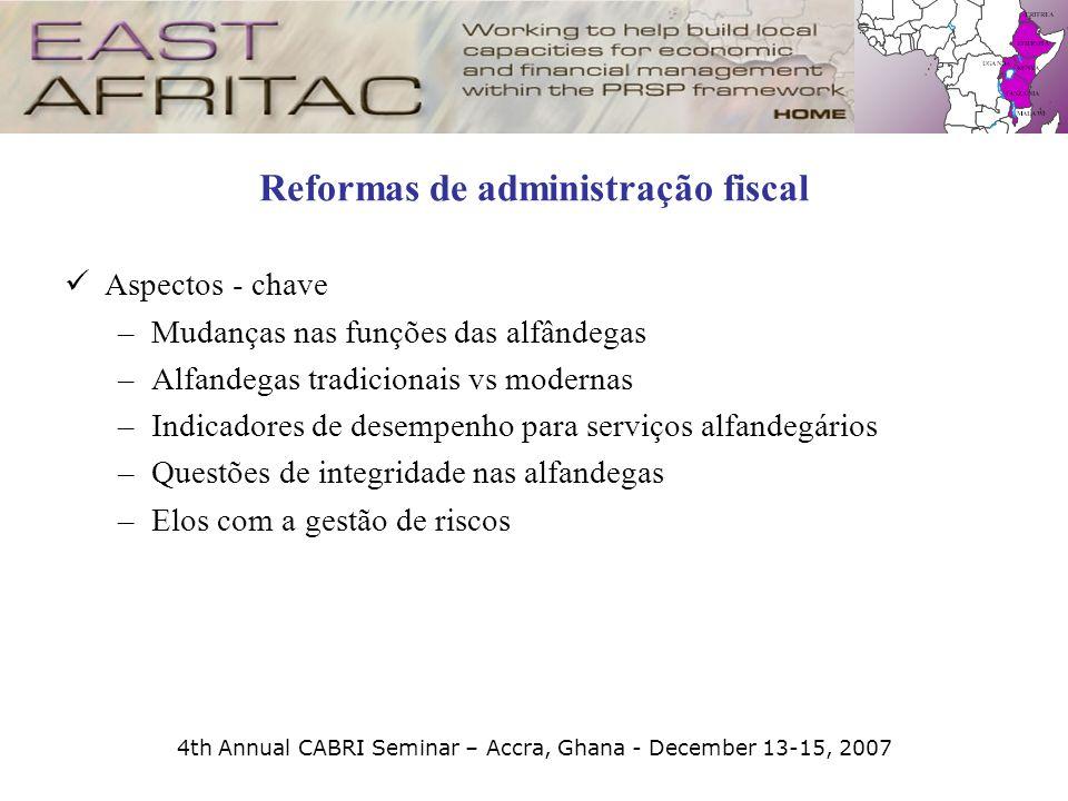 Reformas de administração fiscal