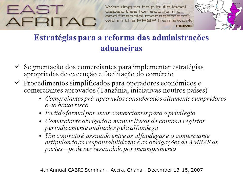 Estratégias para a reforma das administrações aduaneiras