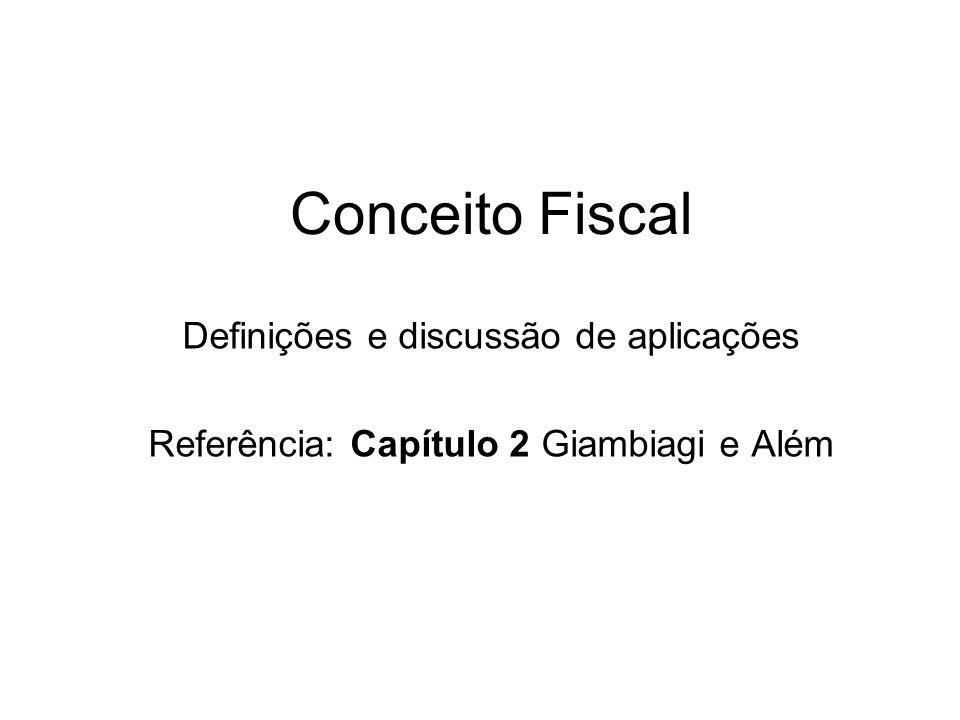 Conceito Fiscal Definições e discussão de aplicações