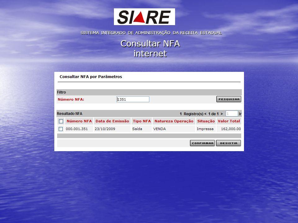 Consultar NFA internet