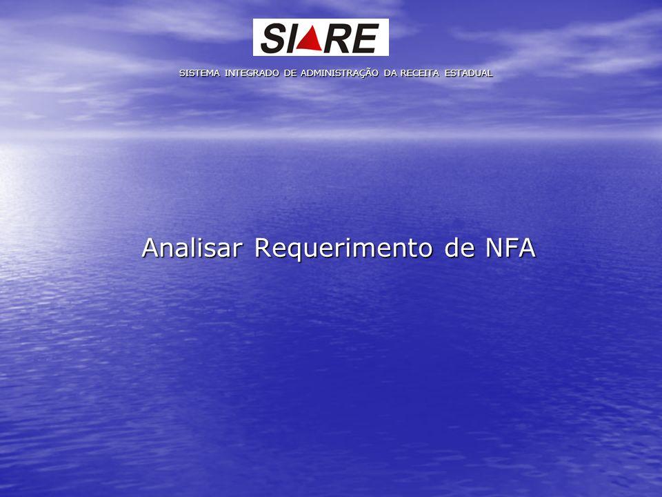 Analisar Requerimento de NFA