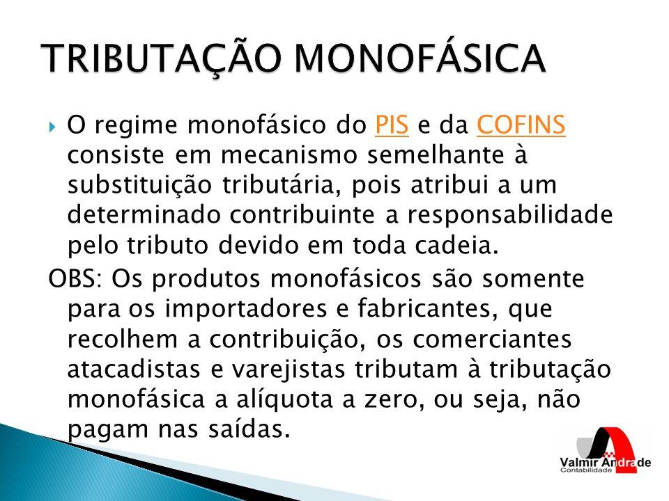 TRIBUTAÇÃO MONOFÁSICA
