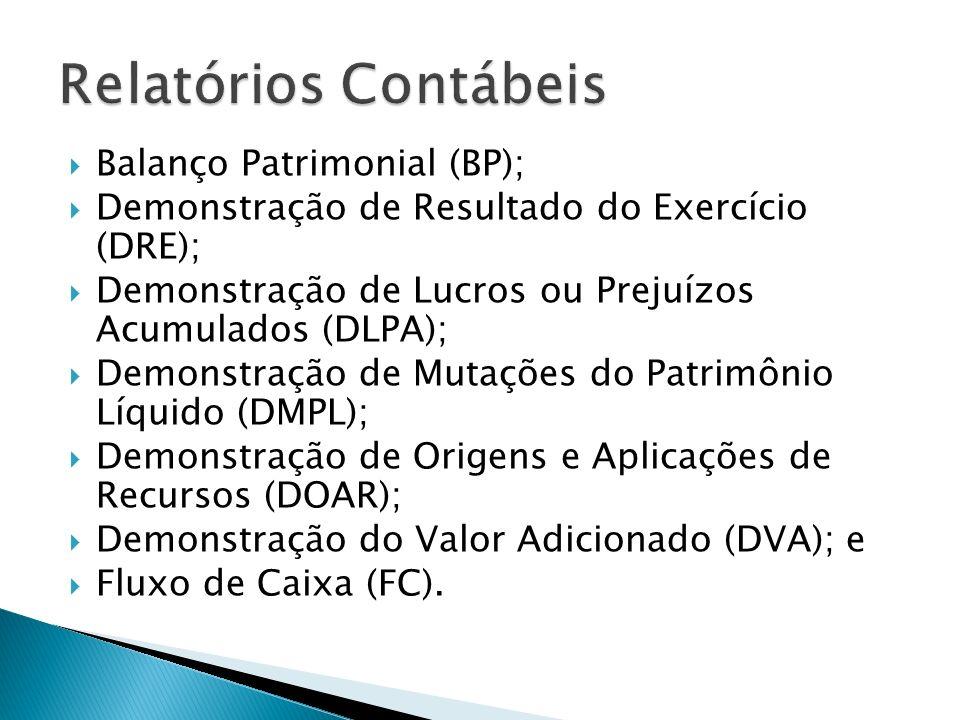 Relatórios Contábeis Balanço Patrimonial (BP);