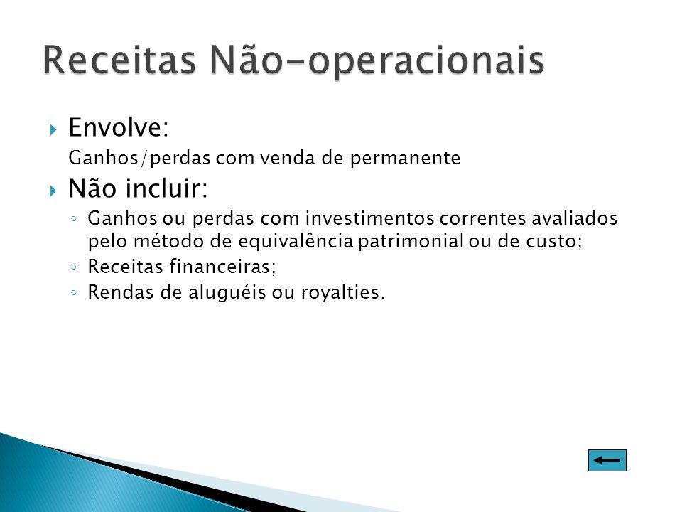 Receitas Não-operacionais