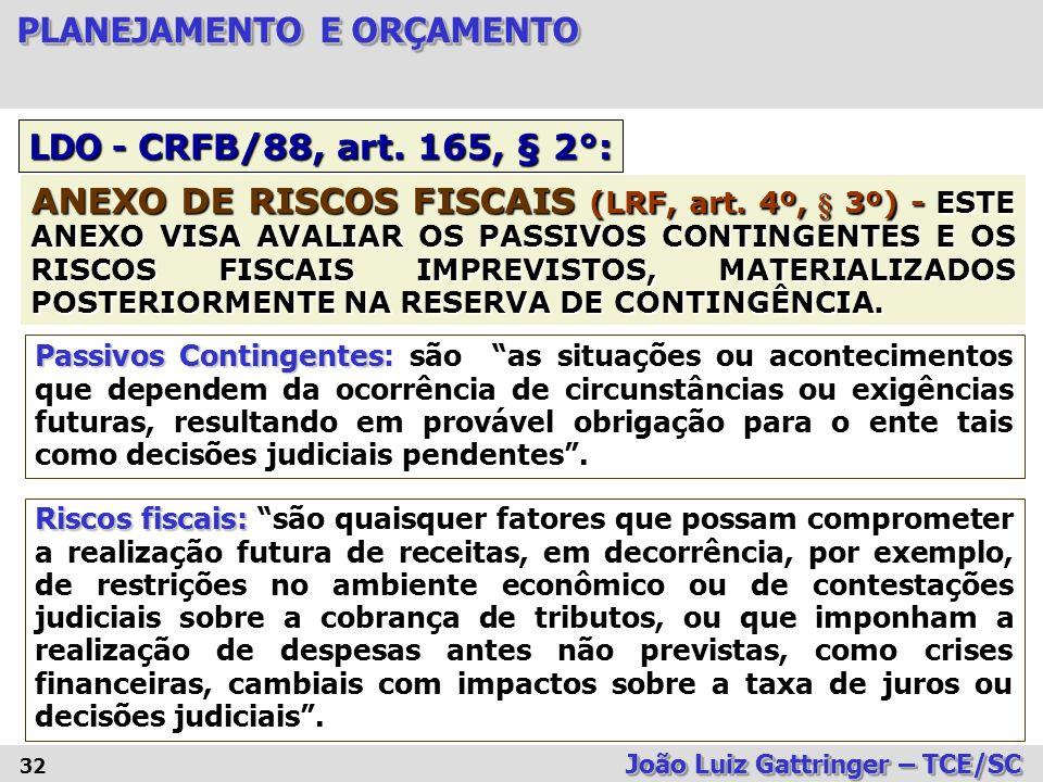 LDO - CRFB/88, art. 165, § 2°:
