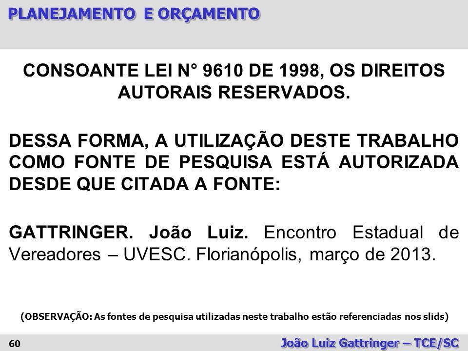 CONSOANTE LEI N° 9610 DE 1998, OS DIREITOS AUTORAIS RESERVADOS.