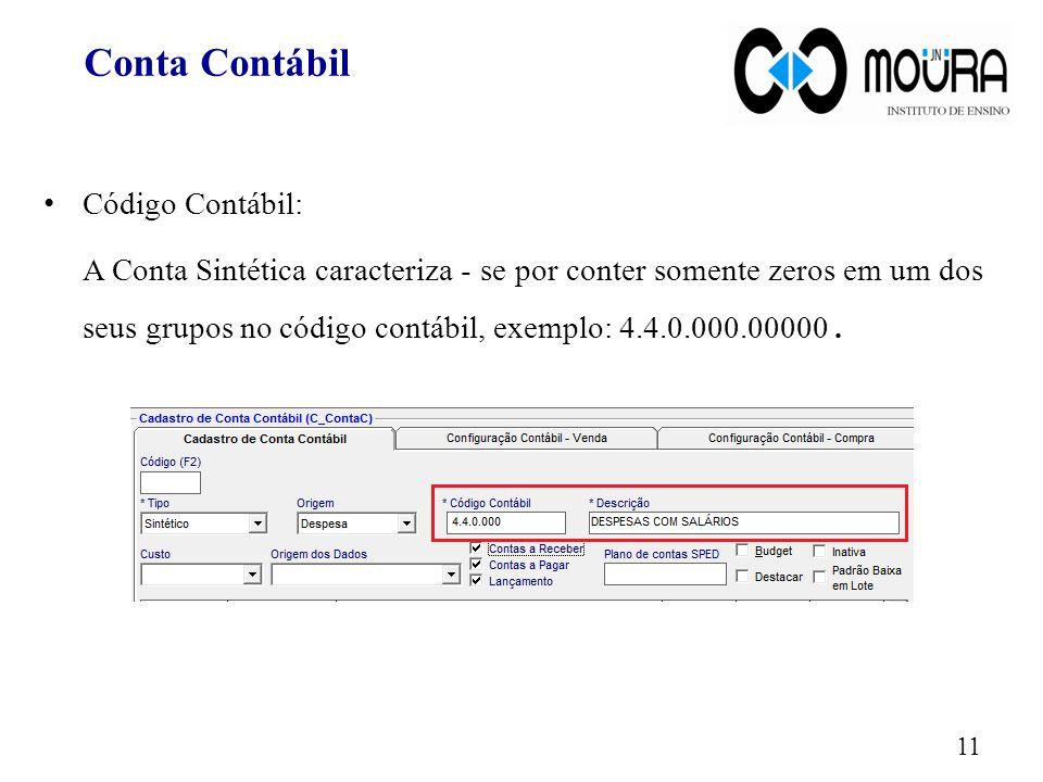 Conta Contábil Código Contábil: