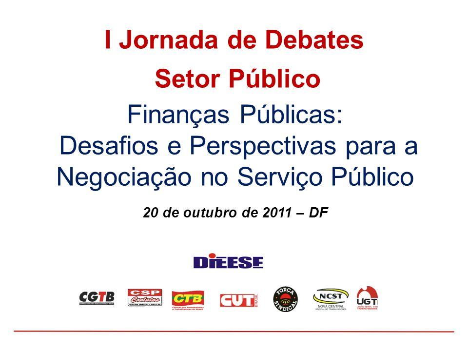 I Jornada de Debates Setor Público.
