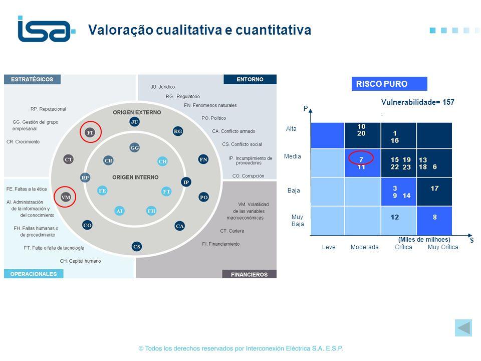 Valoração cualitativa e cuantitativa