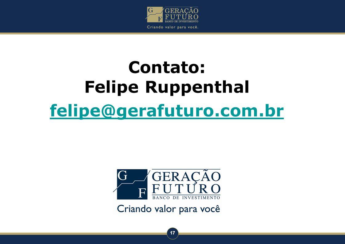 Contato: Felipe Ruppenthal felipe@gerafuturo.com.br