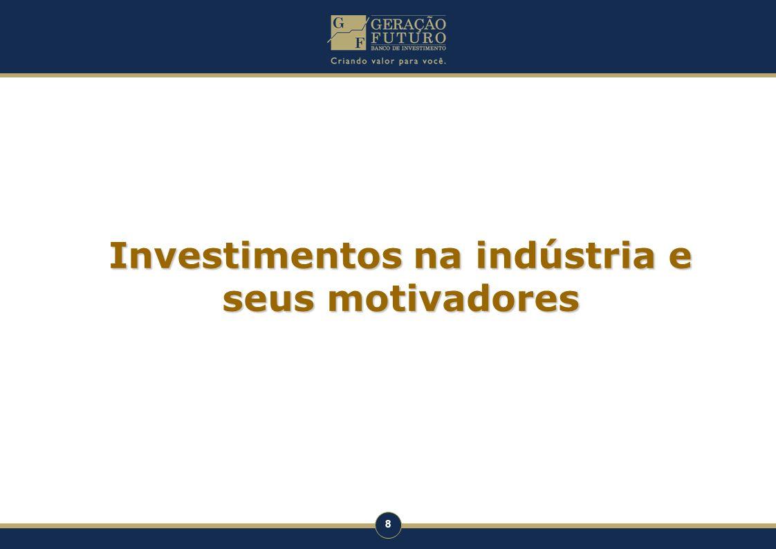 Investimentos na indústria e seus motivadores