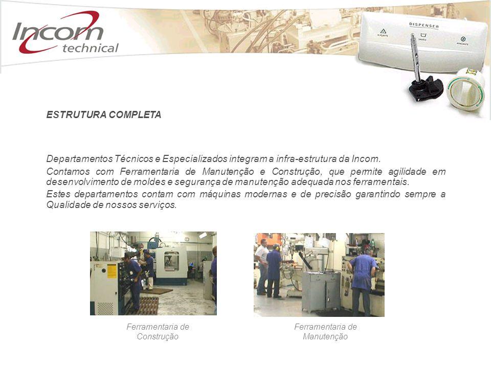 ESTRUTURA COMPLETA Departamentos Técnicos e Especializados integram a infra-estrutura da Incom.