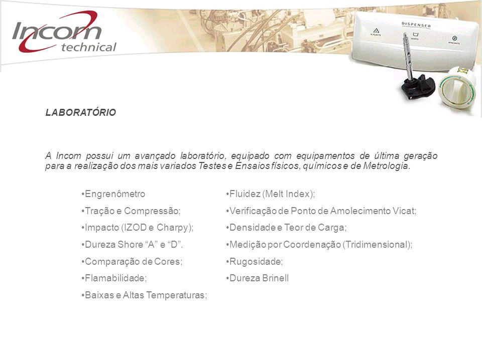 A Incom possui um avançado laboratório, equipado com equipamentos de última geração para a realização dos mais variados Testes e Ensaios físicos, químicos e de Metrologia.