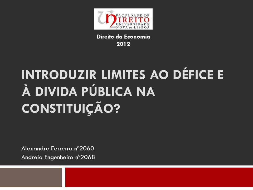 Introduzir limites ao défice e à divida pública na Constituição