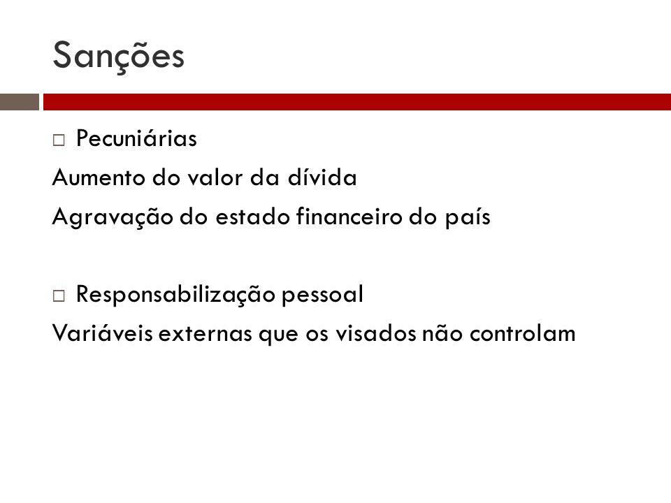 Sanções Pecuniárias Aumento do valor da dívida