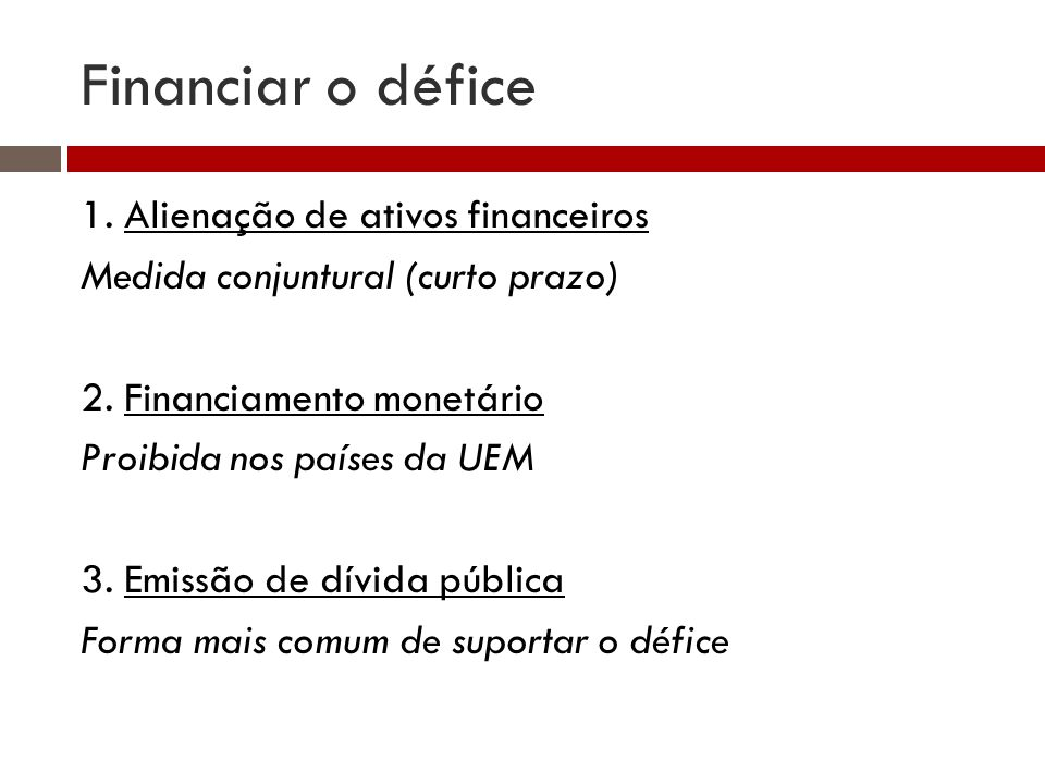 Financiar o défice