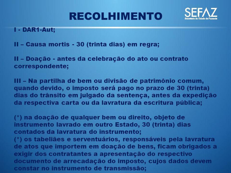 RECOLHIMENTO I - DAR1-Aut;