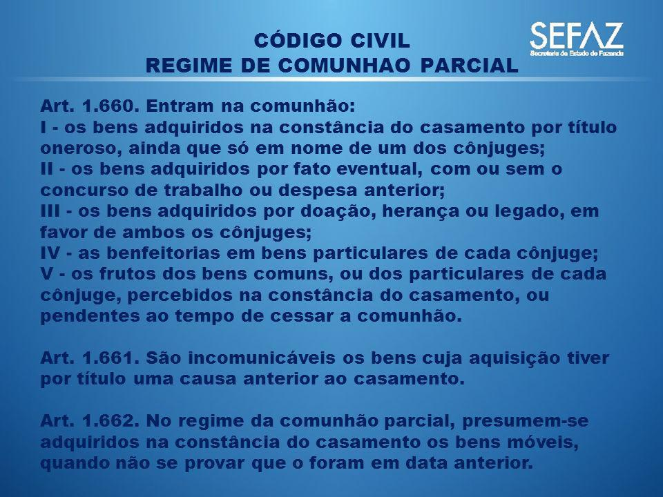 REGIME DE COMUNHAO PARCIAL