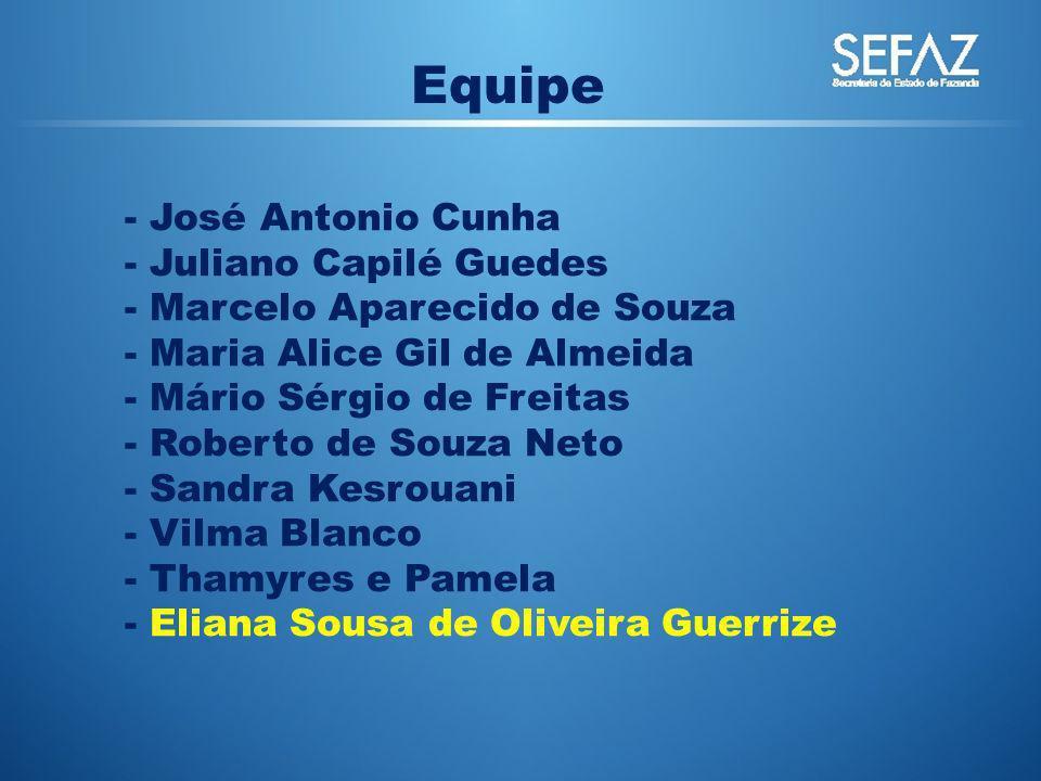 Equipe José Antonio Cunha Juliano Capilé Guedes