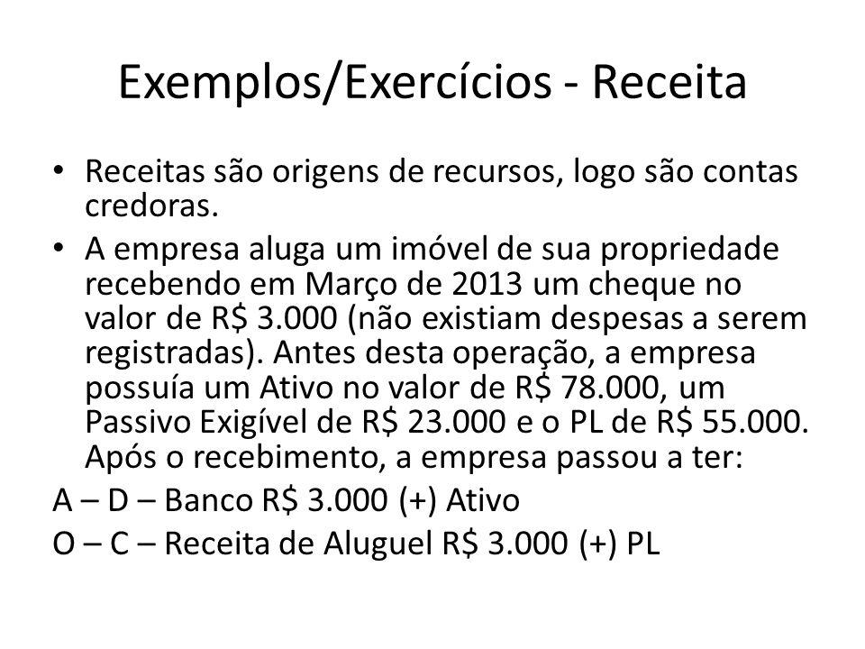 Exemplos/Exercícios - Receita