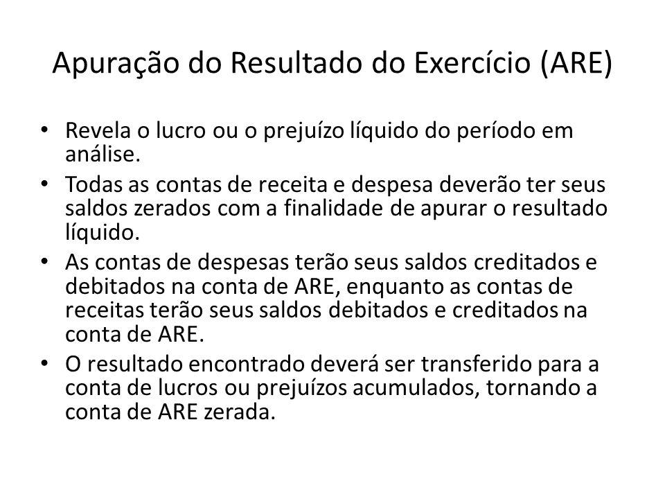 Apuração do Resultado do Exercício (ARE)