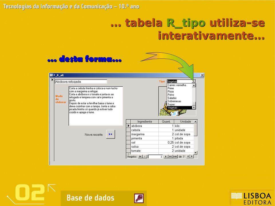 … tabela R_tipo utiliza-se interativamente…