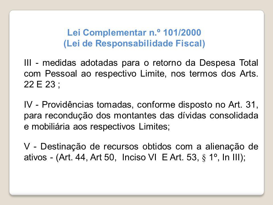 (Lei de Responsabilidade Fiscal)