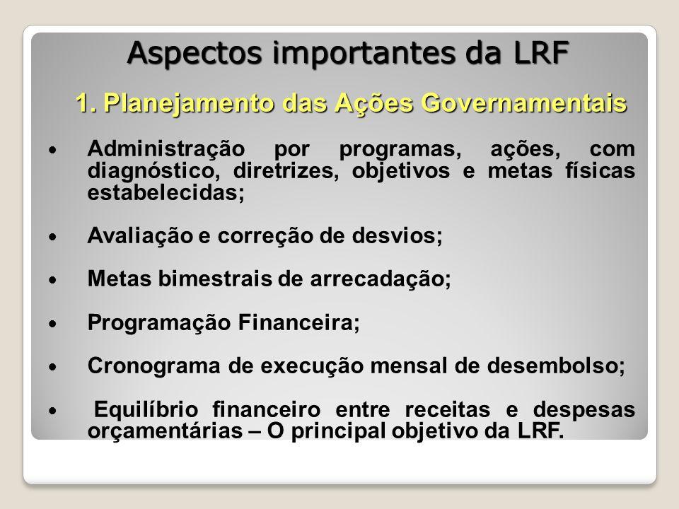 Aspectos importantes da LRF