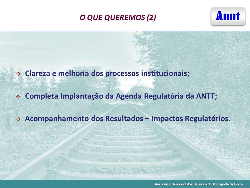 Clareza e melhoria dos processos institucionais;